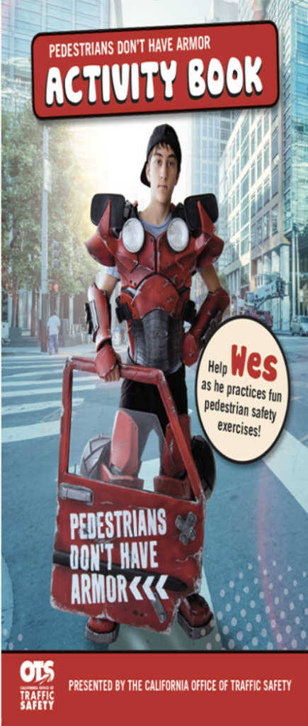 Image of Man holding car door - Pedestrians Don't Have Armor Activity Book