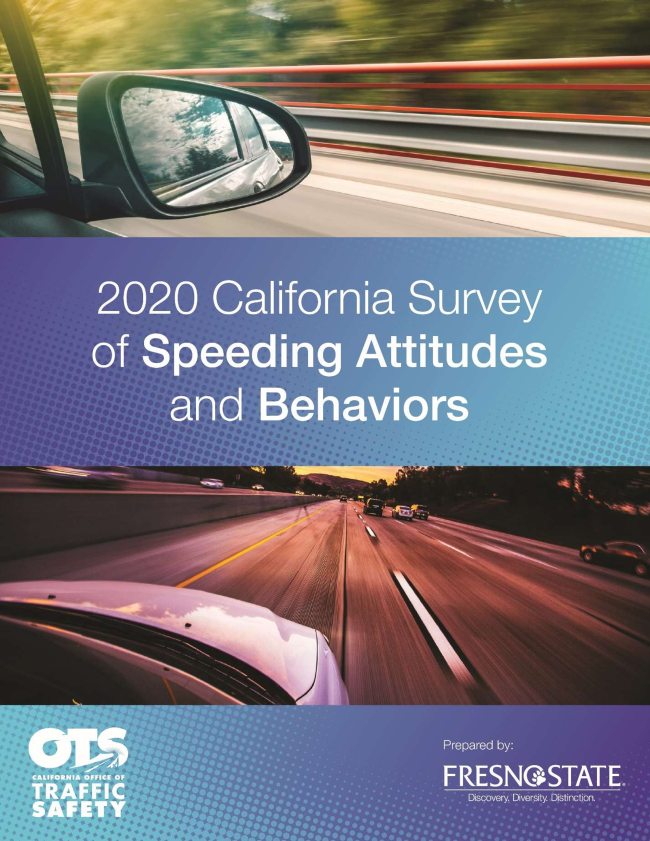 Image of 2020 California Survey of Speeding Attitudes and Behaviors report